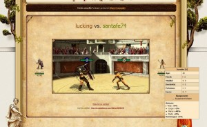 My gladiator : animation de combat