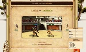 My gladiator : animation de combat