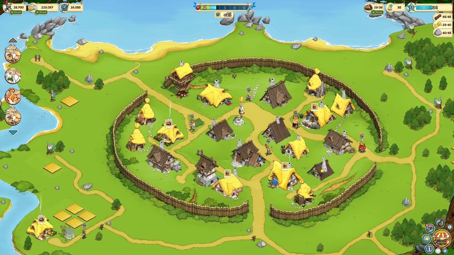 asterix et ses amis test du jeu de gestion jeux f2p blog jeu. Black Bedroom Furniture Sets. Home Design Ideas